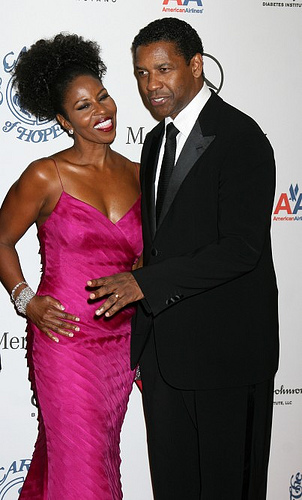 PAULETTA WASHINGTON'S BLACK SKINNED BEAUTY GOT HER DENZEL WASHINGTON!