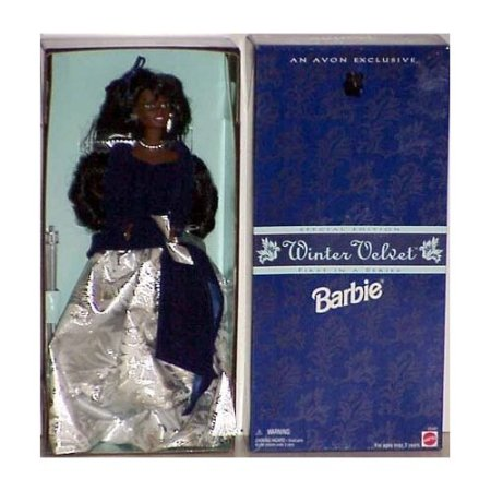 WINTER VELVET BARBIE AVON DOLL BLACK AFRICAN  $28.99 ON AMAZON.COM,UNDER BLACK BARBIE DOLLS UNDER 'TOYS AND GAMES'