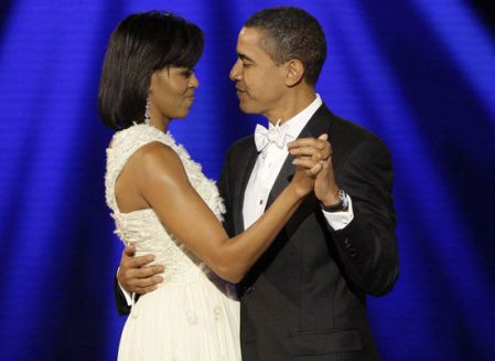 A BLACK SKINNED BEAUTY WITH HER BLACK PRESIDENT HUSBAND!