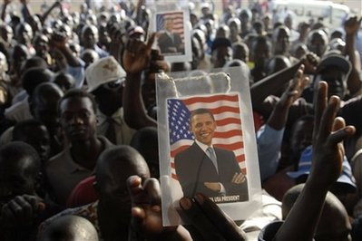KENYANS IN KISUMU (WESTERN KENYA)CELEBRATE ON NOV. 5,2008 OBAMA'S VICTORY!