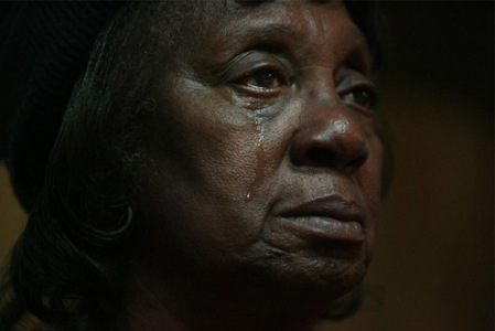 SISTER VERTIE HOODGE,74 YEARS,HOUSTON,TEXAS CRYING WATCHING THE INAUGURATION ON JAN.20,2009