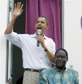 OBAMA AND LEADER ODINGA 2006 VISIT