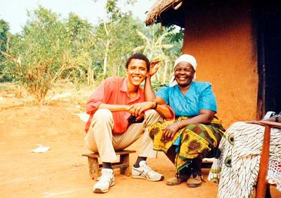 OBAMA'S VISIT WITH HIS KENYAN RELATIVES IN THE 1980'S