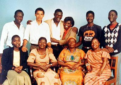 OBAMA'S FIRST VISIT TO HIS KENYAN ROOTS WITH HIS BROTHERS AND SISTERS AND SARAH OBAMA HIS STEP-GRANDMOTHER