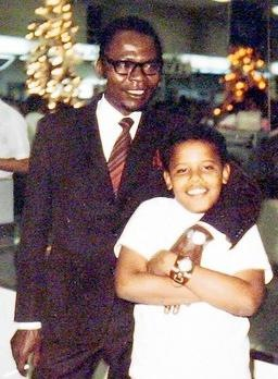 OBAMA'S FATHER'S ONLY VISIT BACK TO SEE HIM IN THE U.S. AFTER HE HAD RETURNED TO KENYA. OBAMA WAS 10 YEARS OLD!