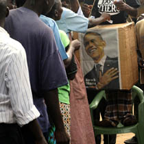 AT OBAMA'S FATHER'S HOMESTEAD AT KOGELO IN KENYA A MOCK ELECTION IS HELD ON NOV. 4!
