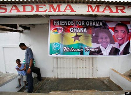 """WELCOME HOME""GREETS YOU WHEN YOU GO BACK TO AFRICA FOR A VISIT LIKE OBAMA!"