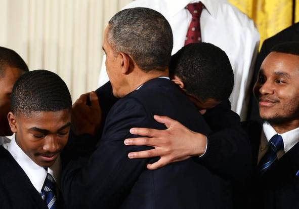 """President Obama launched a new government partnership with businesses and philanthropic groups on Thursday aimed at keeping high-risk young men of color on the right path. Obama called it a """"moral issue"""" for the country to help minority youth gain the education and skills they need to succeed as adults and to stay out of jail. """"It doesn't take that much, but it takes more than we are doing now,"""" Obama said. """"And that's what My Brother's Keeper is about."""" As part of the program, Obama wants to adopt best practices from communities throughout the country where businesses and foundations are already working together to mentor young minority men. In support of the program, the Obama administration recruited several philanthropic groups — including the Annie E. Casey Foundation, The Ford Foundation and The John S. and James L. Knight Foundation — to pledge at least $200 million over the next five years to develop programs on early childhood development, parenting, school discipline reform and other critical areas. Obama noted that in the first three years of life a child born into a low-income family typically hears 30 million fewer words than a child of a well-off family. He also cited statistics that show a student who can't read at grade level by third grade is four times less likely to graduate by age 19 than a child who does read proficiently by that time. Children living in poverty are 13 times less likely to graduate on time than their wealthier peers. The president took aim at zero-tolerance policies, the practice of automatically suspending students for certain infractions. The administration last month recommended that schools discontinue the practice. Schools are twice as likely to suspend a Hispanic student and four times more likely to suspend an African-American student than they are white students. Students that are suspended even once before the ninth grade are twice as likely to drop out. """"There are ways to modify bad behavior that leads to good behavior"""