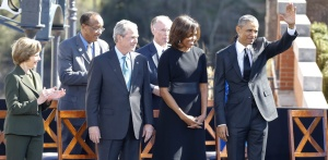 OBAMA,MICHELLE,BUSH ATI WIFE AT SELMA MARCH
